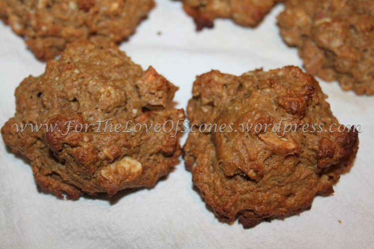 Coffee-Almond Scones. Large almond chunks, subtle coffee flavor...what's not to love?