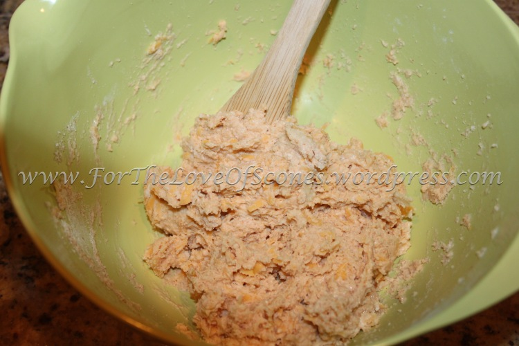 Stir with a wooden spoon until mixed.