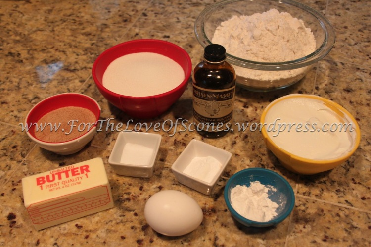 As always, measure out your ingredients first, and mix your topping.