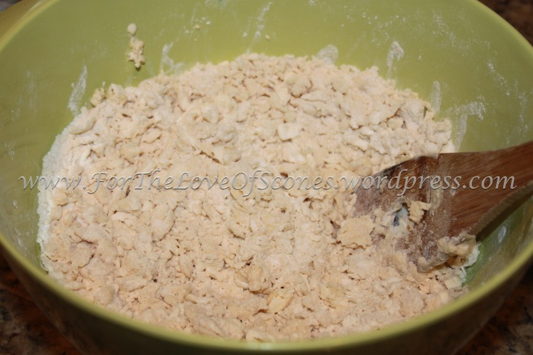 After adding the Greek yogurt mixture, you should have a dry-ish mixture  that does not stick together yet.