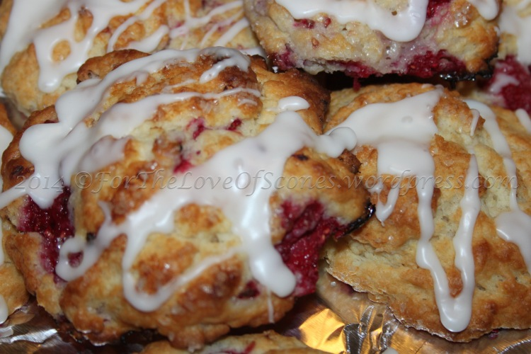 A lovely blend of raspberry and lemon complement each other in this scone batch.