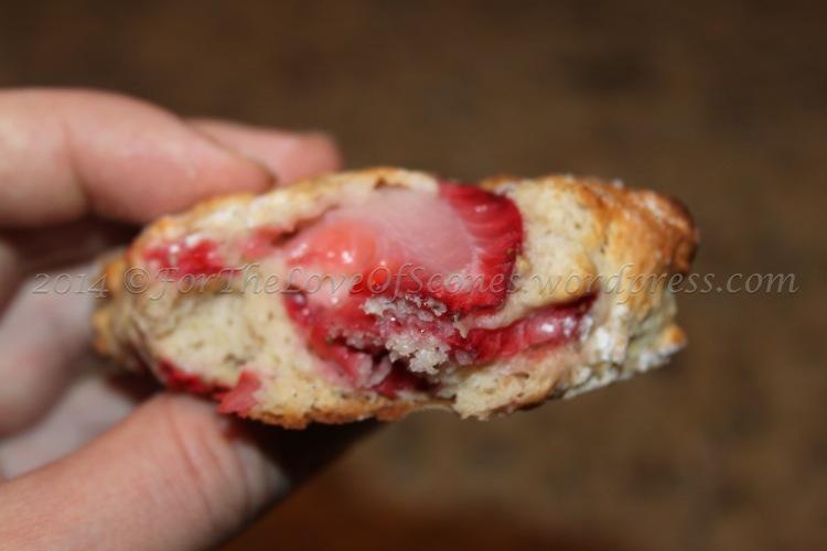 Strawberry Maple Scones