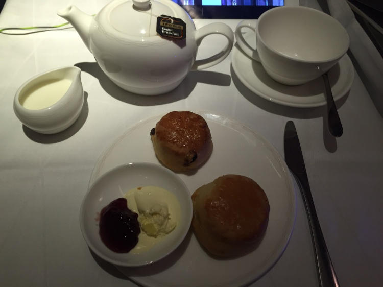 Yes. I cheated. Cream tea for one, please!  Milk for my tea, personal-sized tea pot, jam and clotted cream for my scones. Perfection.  Now, I need to buy myself one of these personal-sized tea pots. Seriously.